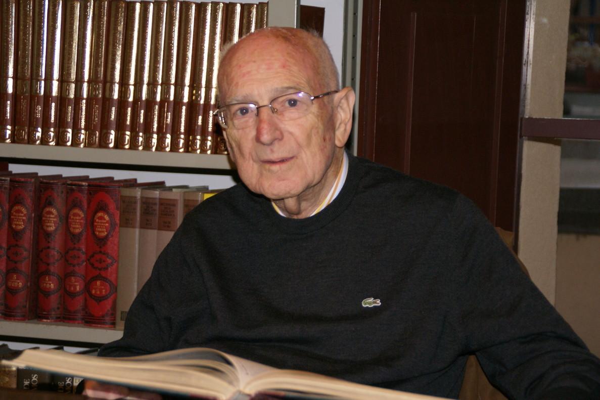 Imatge darxiu de Joaquim Llovet, historiador de Mataró, mort als 95 anys.