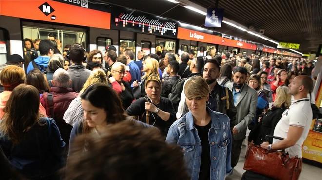 La vaga del metro, en imatges