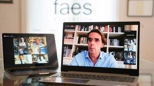 José María Aznar, en las jornadas virtuales de la FAES.