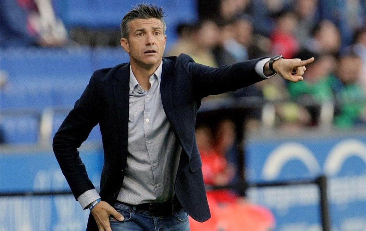 Josep Lluís Martí, durante su etapacomo entrenador del Deportivo la pasada temporada.