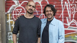 Juan Pablo Balcázar y August Corominas, organizadores del Basement Jazz.