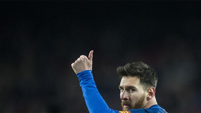 Las fotografías del partido de vuelta de copa entre el Barça y la Real Sociedad con el triunfo de los azulgrana por cinco goles a dos