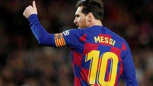 Lionel Messi, en el último partido jugado por el Barça, el pasado 7 de marzo en el Camp Nou, ante la Real Sociedad.