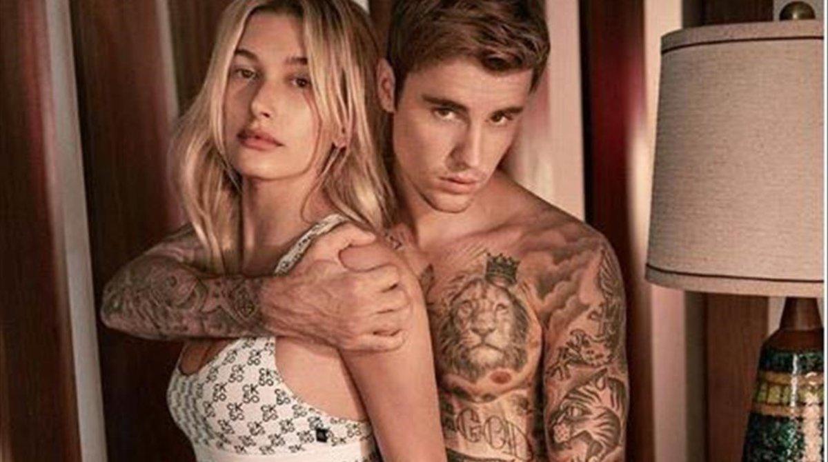 Hailey y Justin Bieber debutan en la nueva campaña de Calvin Klein Underwear.