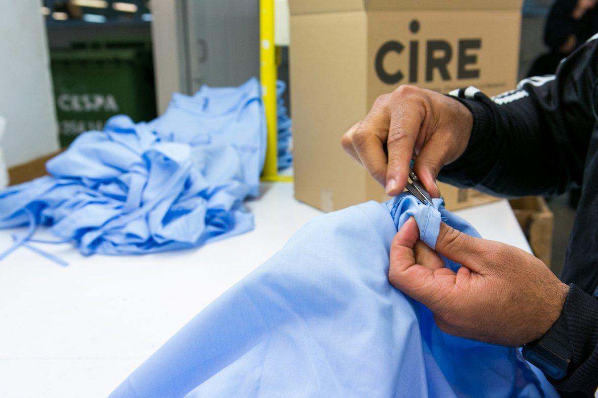 Los presos catalanes se vuelcan para ayudar a los hospitales durante la emergencia por el coronavirus