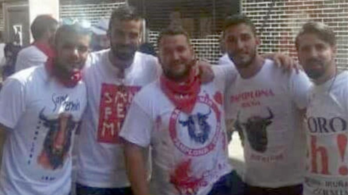 Los cinco condenados de 'La Manada'.