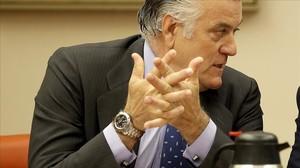 Luis Bárcenas, en la comisión.