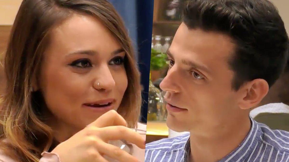 Mabe y Alejandro en 'First Dates'.