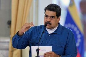 El presidente de Venezuela Nicolás Maduro durante un discurso televisivo.AFP