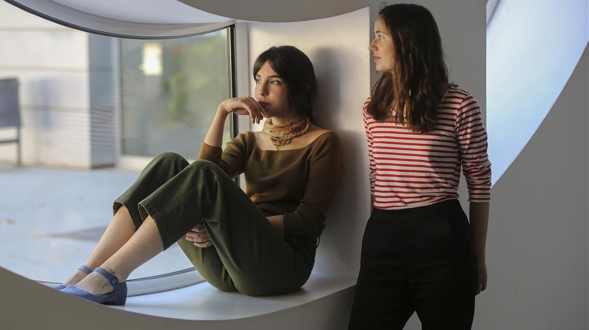 Marta Lallana e Ivet Castelo, fotografiadas este miércoles en el Teatre del CCCB