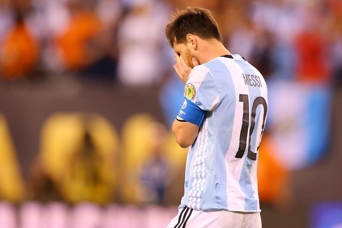 Messi, desolado, tras perder la final de la Copa América ante Chile.