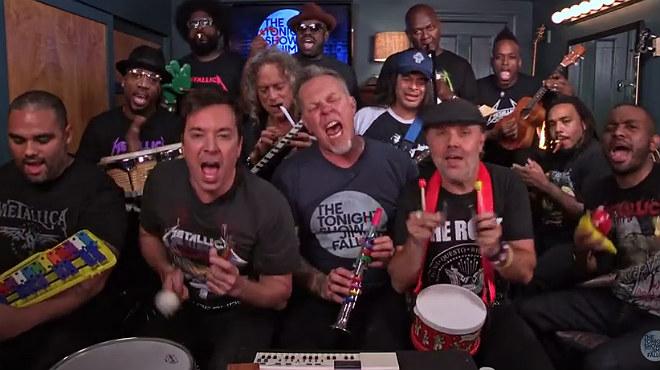 Metallica se marca unespectacular 'cover' de 'Enter Sandman' en el programa de Jimmy Fallon.