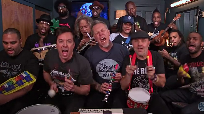 Metallica es marca un espectacular cover dEnter Sandman en el programa de Jimmy Fallon.