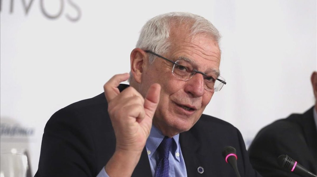 El ministro de Asuntos Exteriores, Josep Borrell, en Madrid.