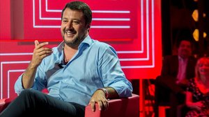 Ministro de Interior italiano, Matteo Salvini, durante una entrevista.