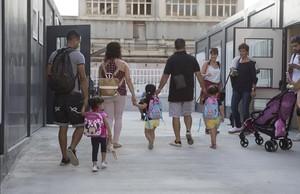 Vuelta al cole en la escuela pública La Sagrera, en Barcelona, el pasado 12 de septiembre.