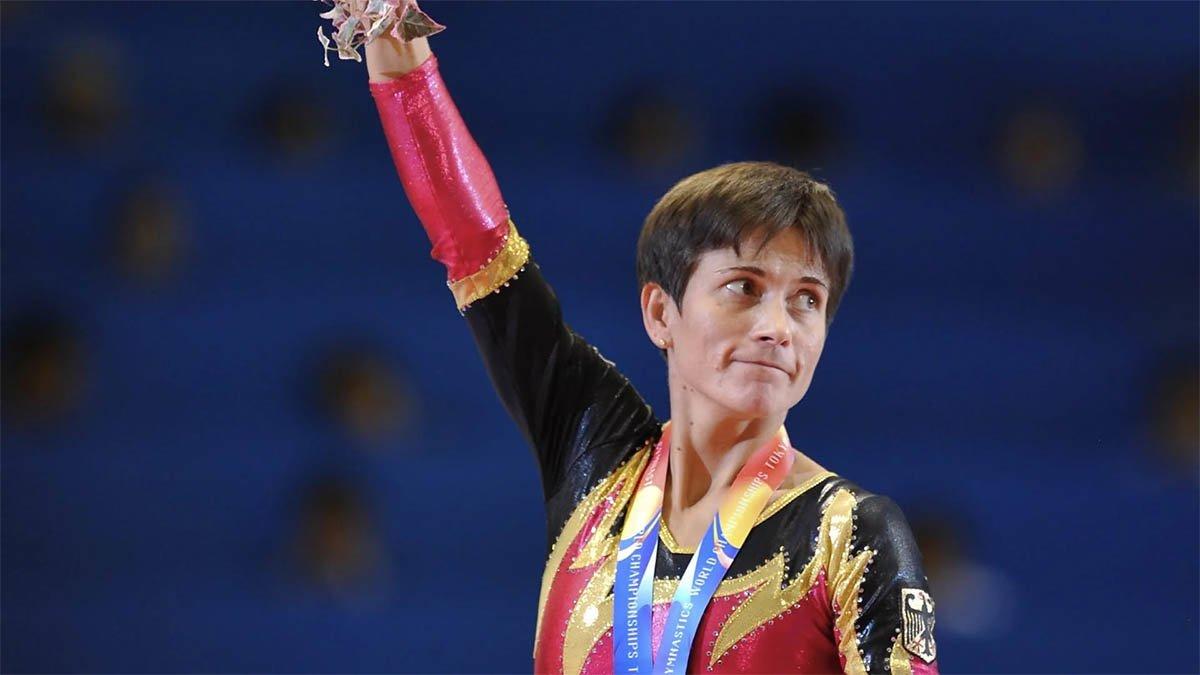 Oksana Chusovitina, en los Juegos de Londres 2012. Estará en los del 2020 con 45 años.