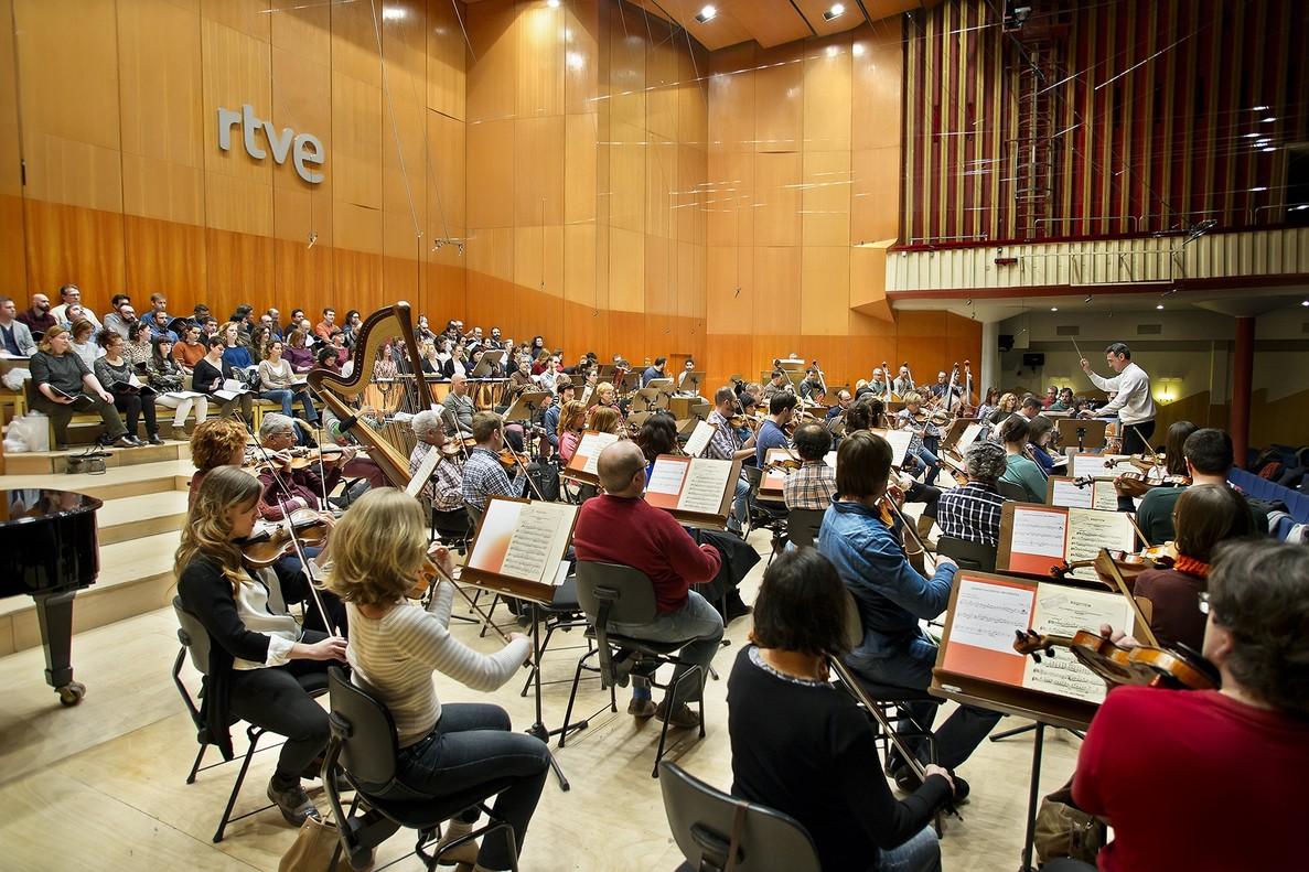 La Orquesta Sinfónica de TVE.