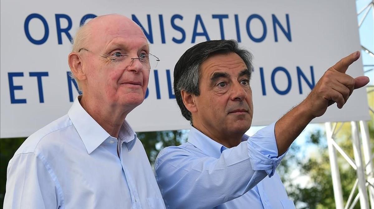 François Fillon con el dimitidojefe de campañaPatrick Stefanini en una foto del pasado mes de agosto.
