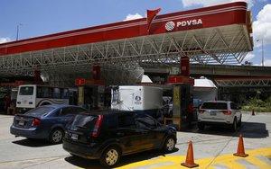 Una gasolinera de PDVSA en Caracas, Venezuela.