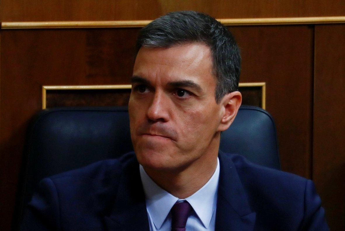 Pedro Sánchez, en el debate de los Presupuestos en el Congreso.
