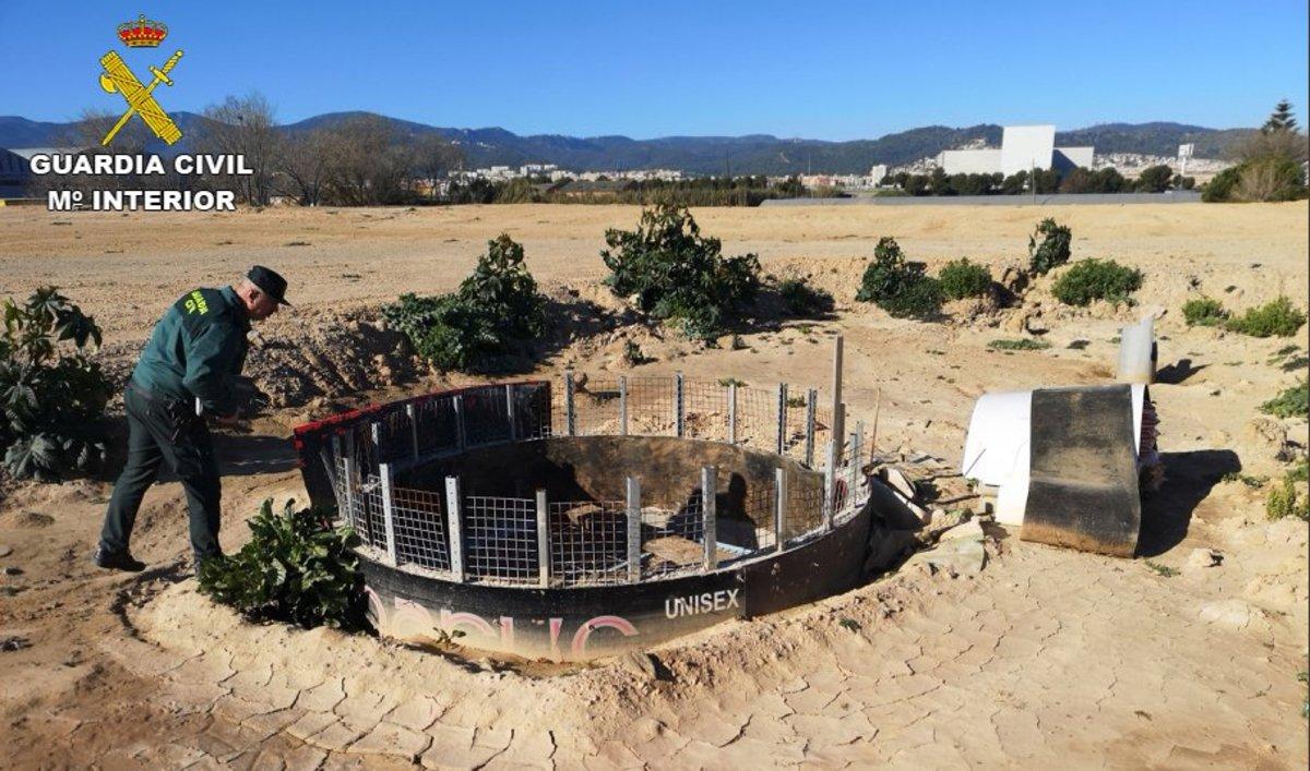 Trobat un pou il·legal al Parc Agrari de Viladecans
