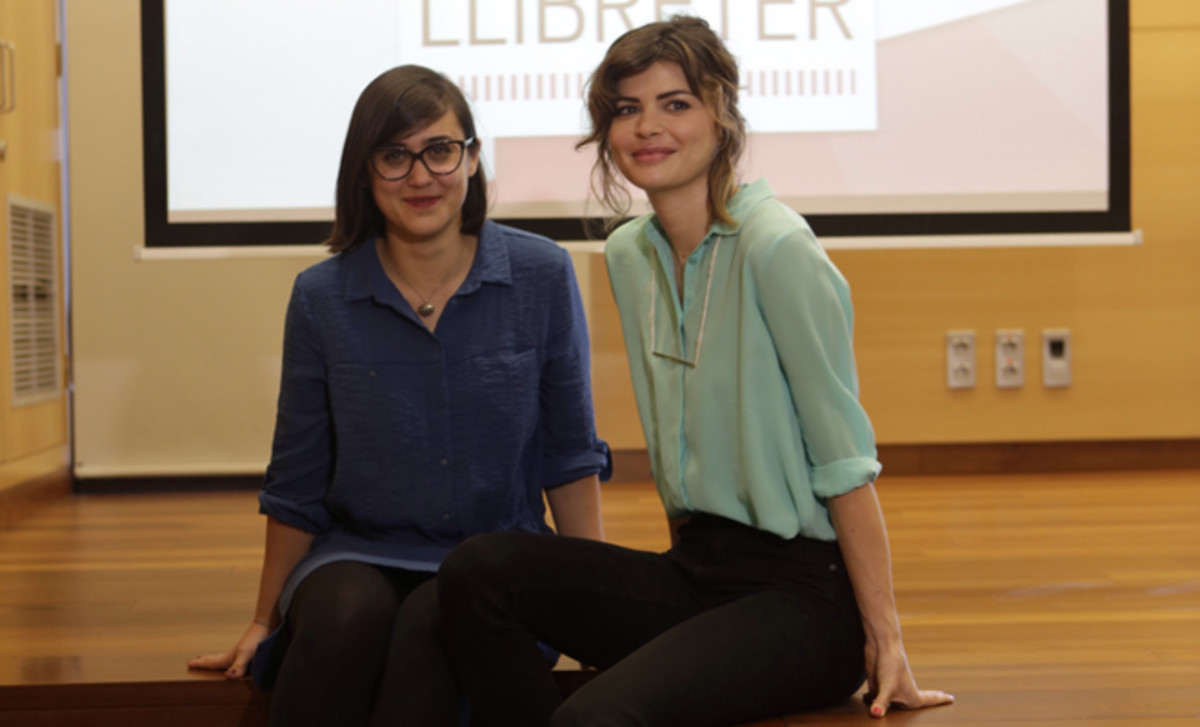 Premi Llibreter. Francesca Sanna y Alicia Kopf.