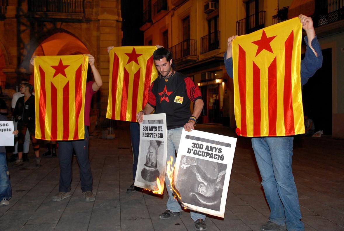 Protesta independentista en Lleida, el año pasado.