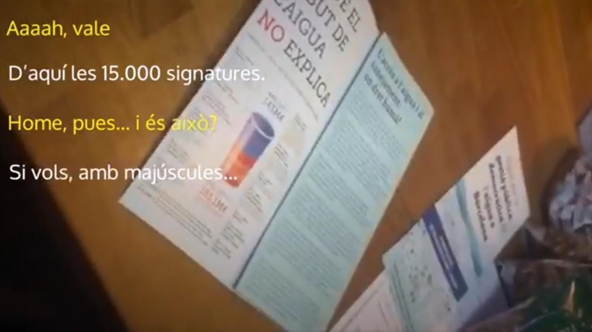 Imagen del vídeo contra la recogida de firmas de la multiconsulta.