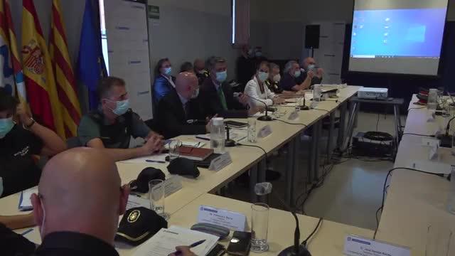 Reunión de la Junta de Seguridad Local de Badalona.