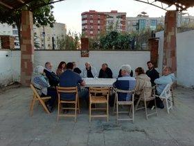 Reunión de miembros de la Associació Agrària Cinc Sènies-Mata-Valldeix de Mataró
