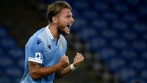 Immobile celebra su gol ante el Brescia de este miércoles.