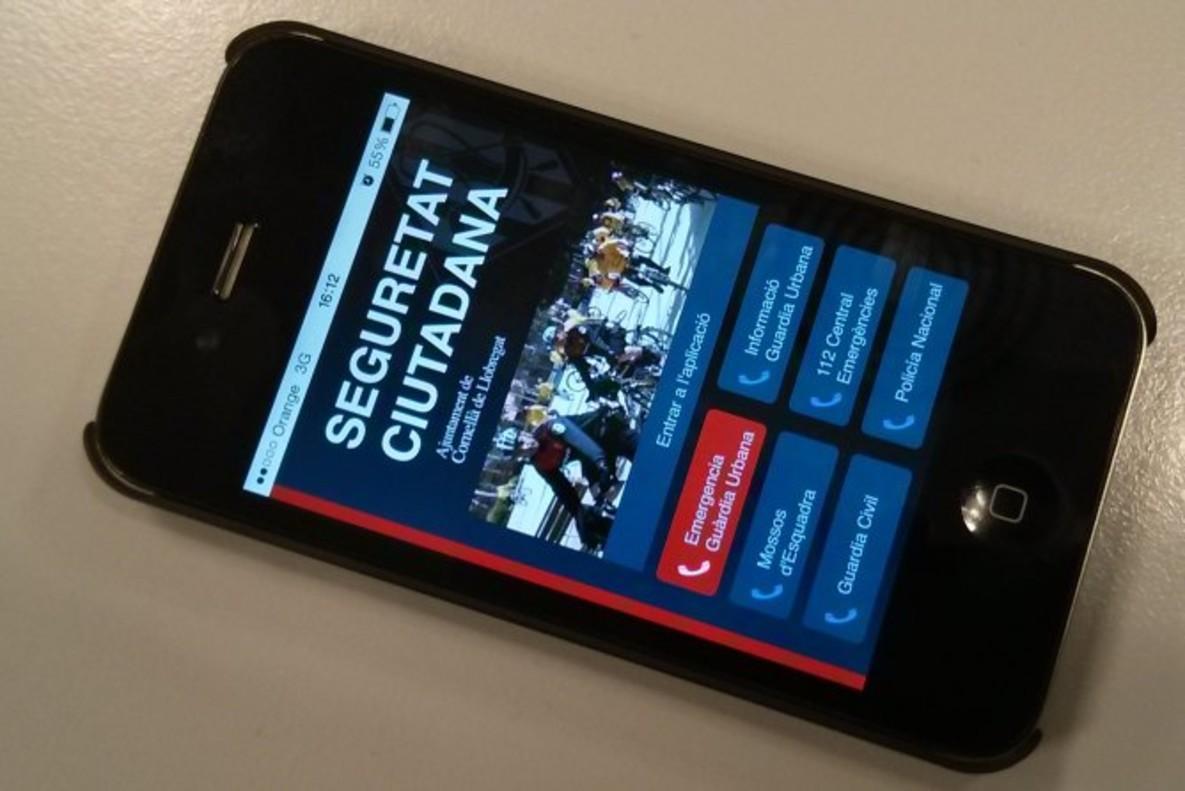 L'APP Seguretat Ciutadana instal·lada en un mòbil.