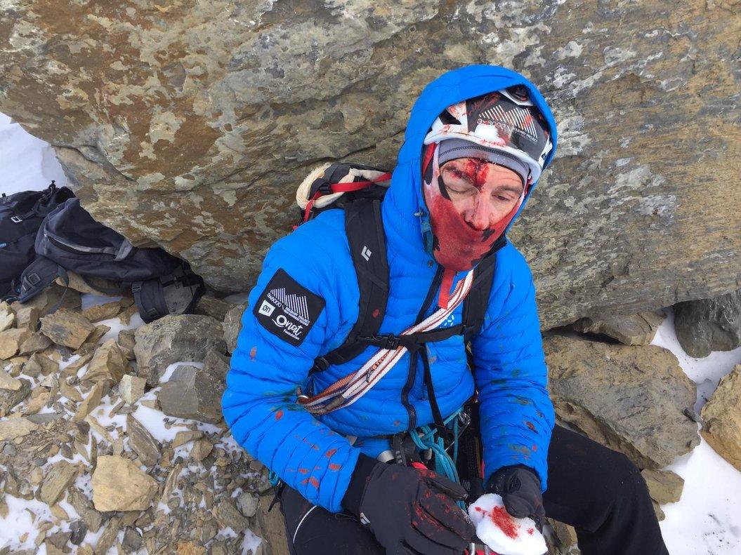 Sergi Mingote, tras sufrir el accidente en el pico Taillón