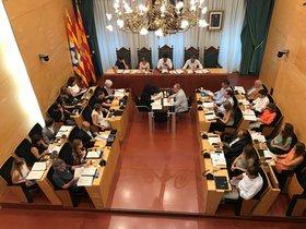 Sesión plenaria en el Ayuntamiento de Badalona.
