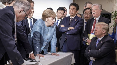 Trump s'acomiada del G-7amb amenaces als aliats