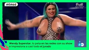 Wendi Superestar, durante su peculiar número en el concurso de Tele 5 Got Talent.