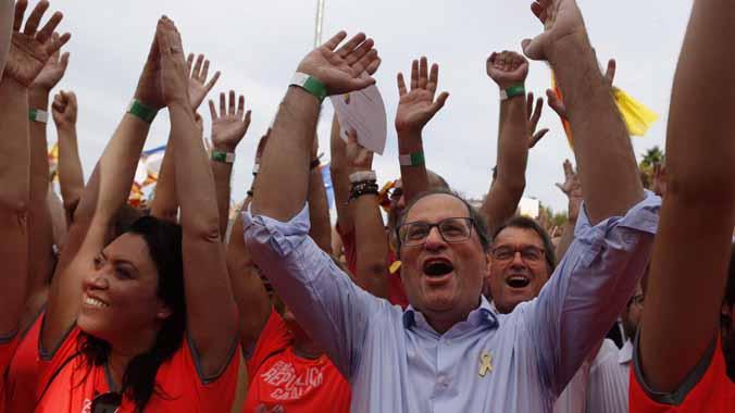 L'ANC es distancia de Torra després d'una altra Diada massiva