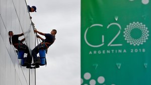Últimos preparativos para la cumbre del G-20 en Buenos Aires.