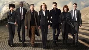 Una imagen promocional de la serie Fringe.