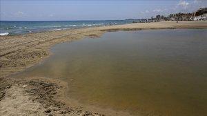 Una de las playas de El Vendrell.