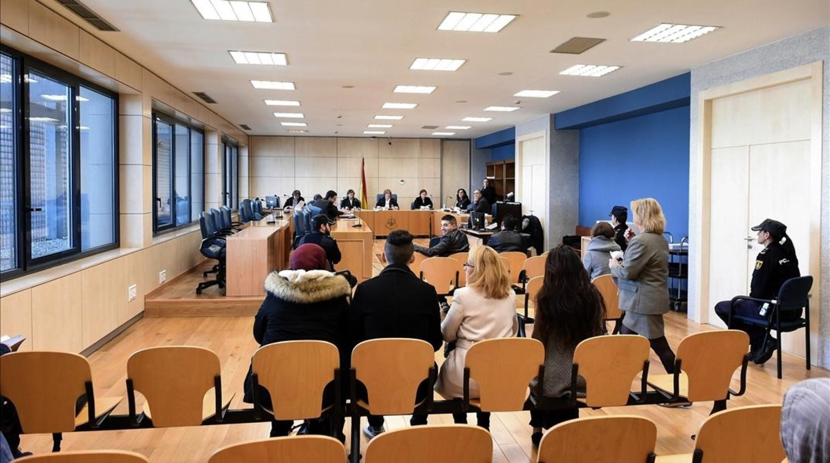 Juicio contra tres presuntos yihadistas en la Audiencia Nacional celebrado en diciembre del 2017.