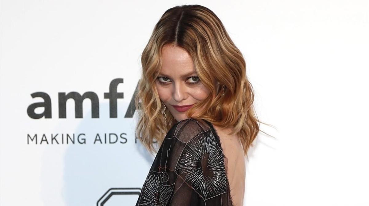 Vanessa Paradis, en la gala Amfar de Cannes, en el 2016.