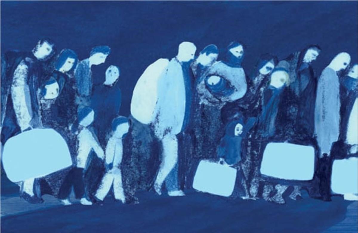 Viñeta de Refugiada, de Tessa JuliàDinarès y Anna Gordillo.