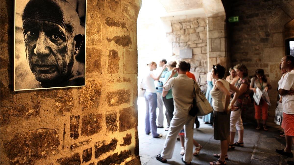 Una de las entradas del Museu Picasso de Barcelona.