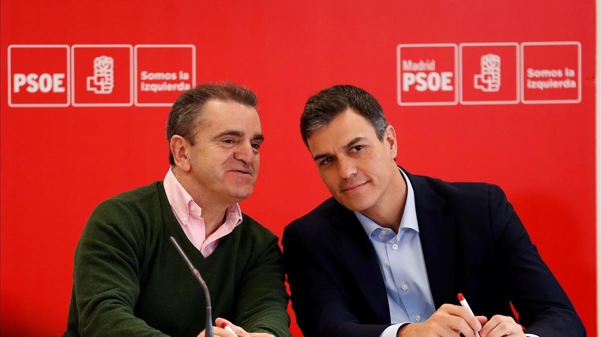 José Manuel Franco y Pedro Sánchez.