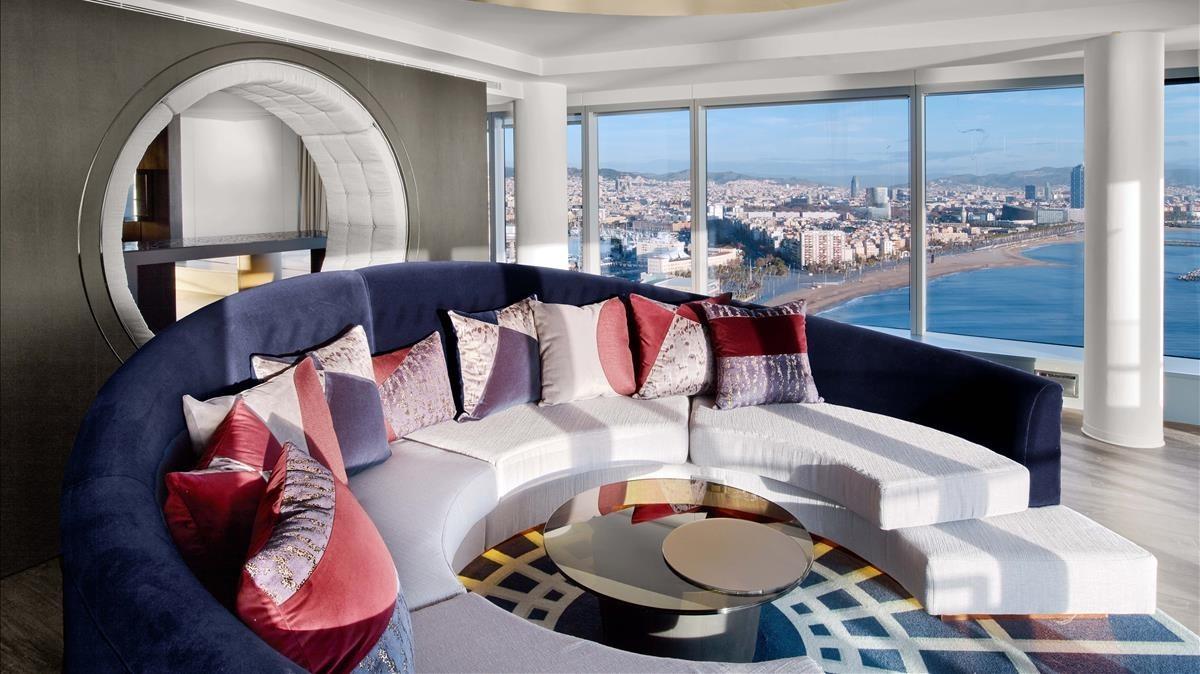 Suite del Hotel W de Barcelona.