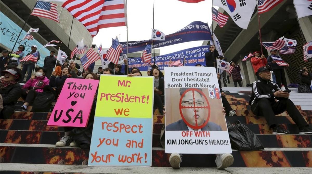 La societat sud-coreana, dividida davant l'acostament a Corea del Nord