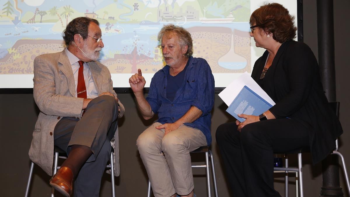 Folch, Mariscal y Viza, durante la presentación.