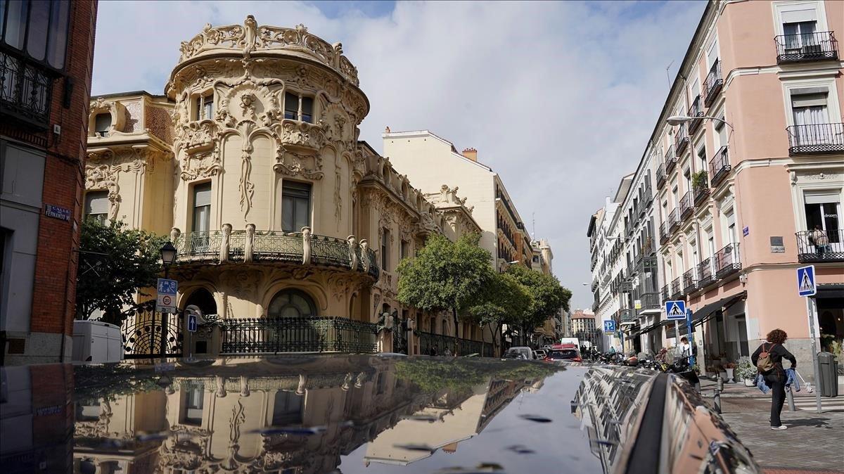 La sede principal de la SGAE, en Madrid.